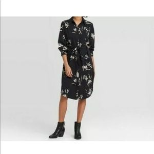 NWT ANew day long sleeve floral dress